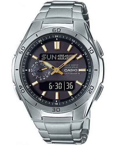 Часы водонепроницаемые с подсветкой серебряный Casio
