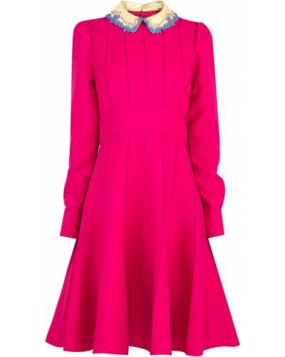 Платье с поясом с цветочным принтом на пуговицах Valentino