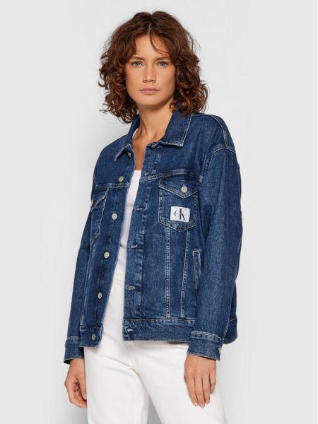 Kurtka jeansowa granatowa Calvin Klein Jeans