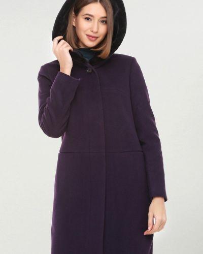 Фиолетовое пальто с капюшоном Florens
