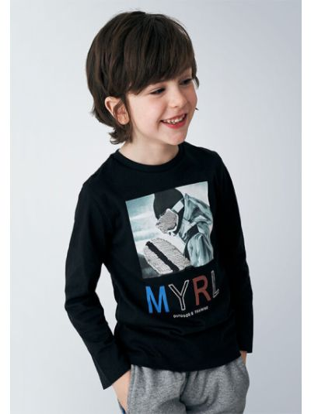 Czarna koszula Mayoral