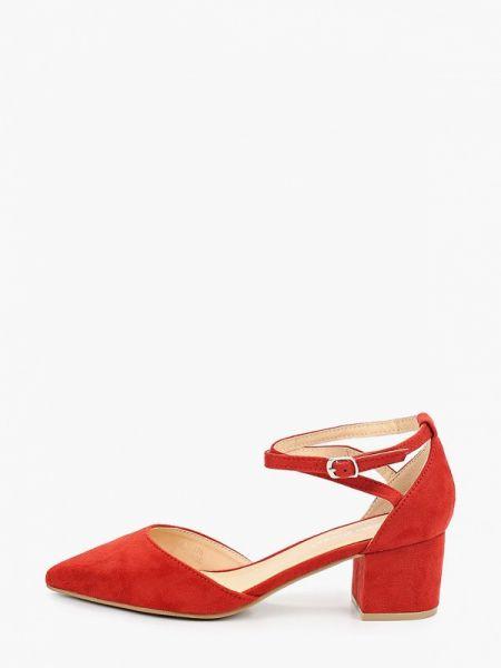 Замшевые туфли красные Ideal Shoes®
