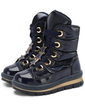 Кожаные коричневые ботинки с подкладкой Jog Dog