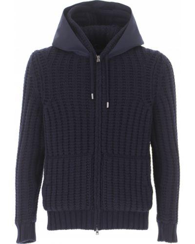 Sweter z kieszeniami z długimi rękawami z alpaki Herno