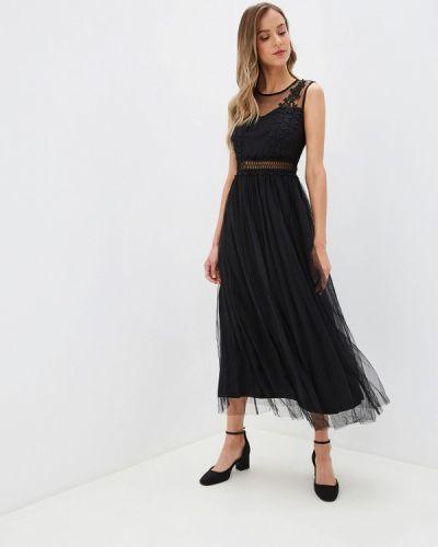 Вечернее платье осеннее черное Danity