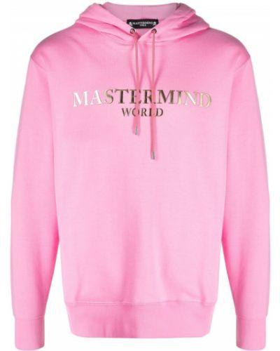 Różowa bluza długa z kapturem z długimi rękawami Mastermind World