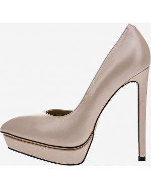 Туфли на каблуке кожаные на платформе Angelina Voloshina