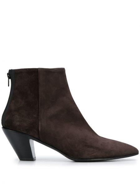 Коричневые ботинки на каблуке на молнии A.f.vandevorst