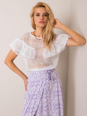 Bluzka materiałowa - biała Fashionhunters
