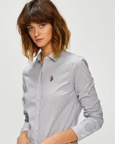 Блузка с длинным рукавом в полоску классическая U.s. Polo