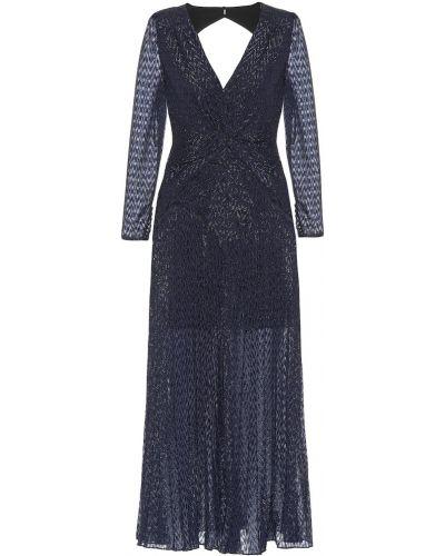 Платье миди синее для танцев Self-portrait