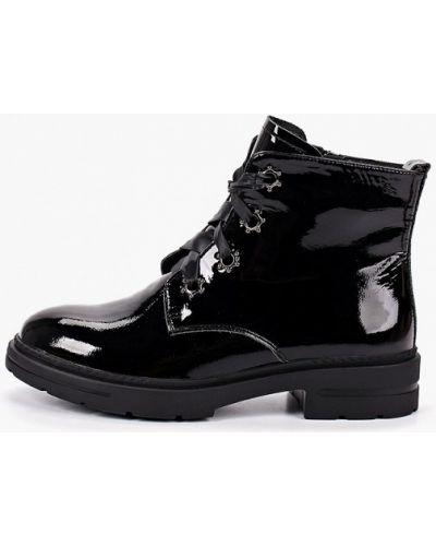 Черные лаковые кожаные ботинки Nexpero