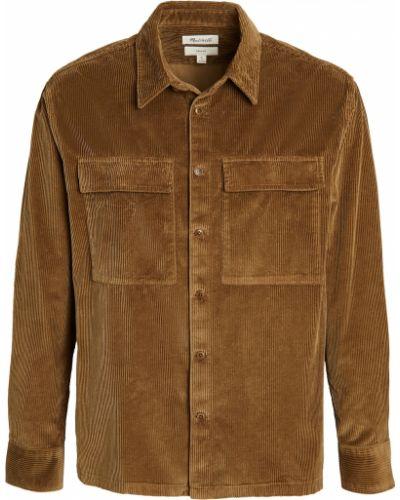 Рубашка вельветовая с длинными рукавами с воротником Madewell