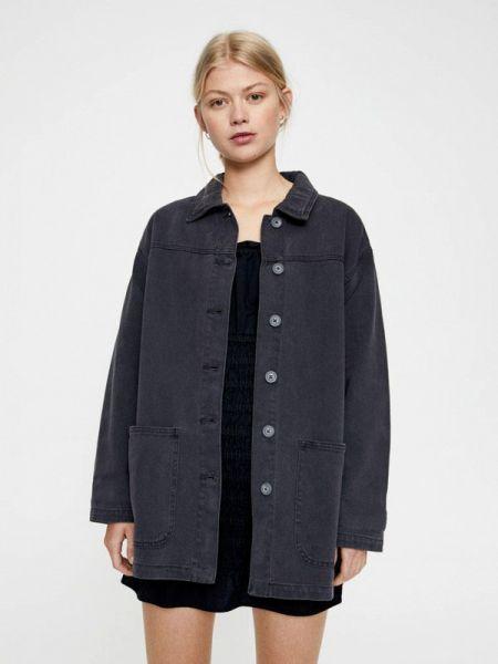 Джинсовая куртка осенняя серая Pull&bear