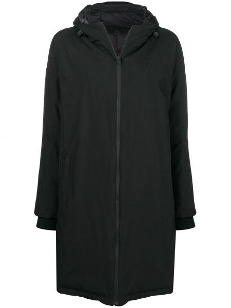 Пальто с капюшоном стеганое био пух Herno