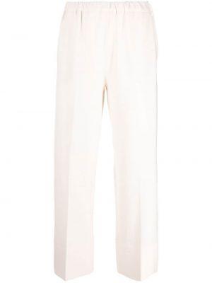 Białe spodnie wełniane Antonelli