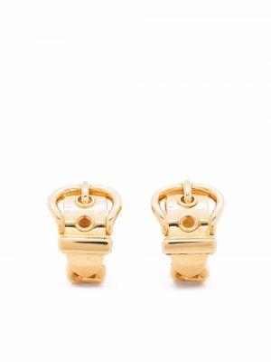 Серьги золотые винтажные матовые Hermès