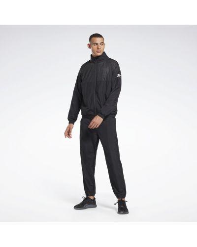 Костюмный нейлоновый черный спортивный костюм Reebok