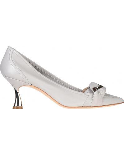 Кожаные туфли на каблуке на каблуке Casadei