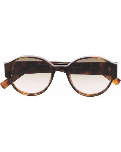 Brązowe okulary oversize z printem Christian Roth