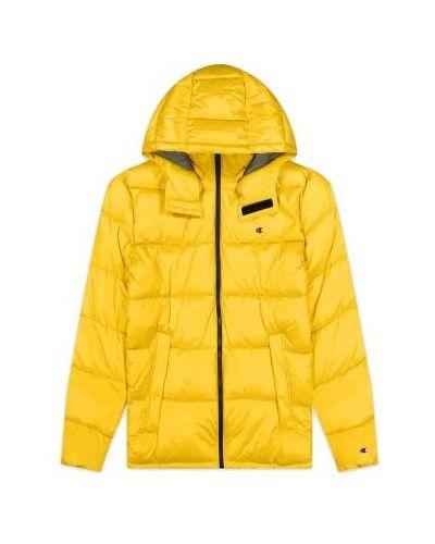 Żółta kurtka z kapturem Champion