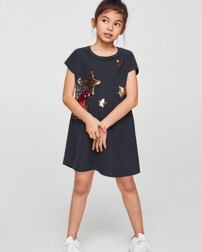 Серое платье Mango Kids