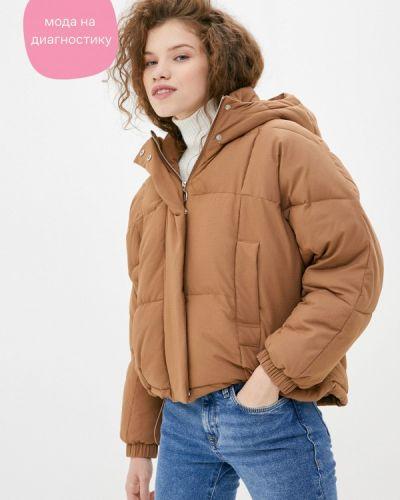 Коричневая утепленная куртка снежная королева