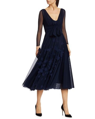 Свободное синее платье миди с длинными рукавами Chiara Boni La Petite Robe
