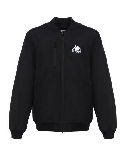 Зауженная акриловая теплая черная куртка Kappa