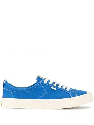 Niebieskie sneakersy sznurowane koronkowe Cariuma