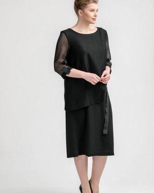 Платье прямое черное Larro
