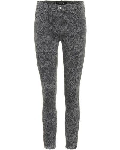 Укороченные джинсы скинни с цветочным принтом J Brand