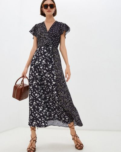 Платье с запахом - синее French Connection
