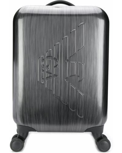 Чемодан на колесиках серый Emporio Armani