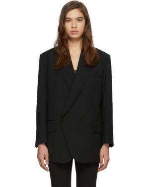 Классический пиджак черный в полоску Low Classic