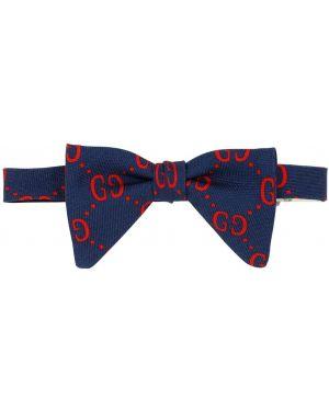 Krawat wełniany z printem Gucci