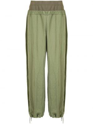 Зеленые брюки эластичные свободного кроя Dion Lee