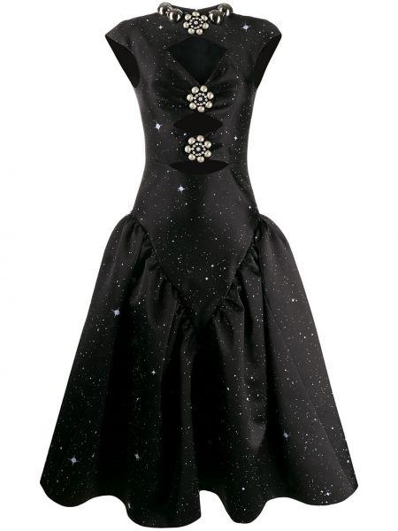 Sukienka rozkloszowana krótki rękaw - czarna Christopher Kane