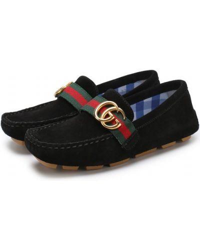 Черные мокасины Gucci