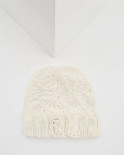 Белая шапка осенняя Polo Ralph Lauren
