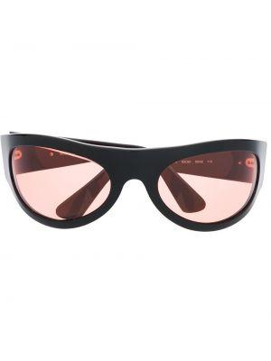 Солнцезащитные очки хаки Moschino Pre-owned