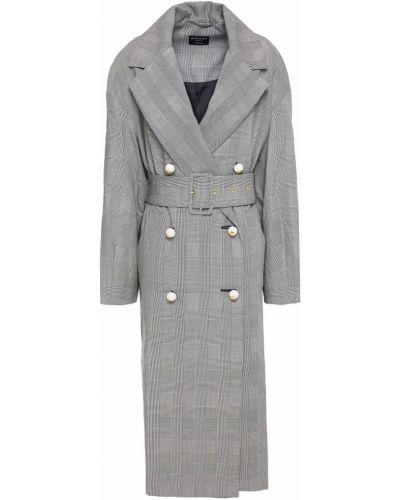 Черное пальто двубортное с карманами Mother Of Pearl