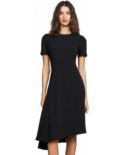Черное платье с короткими рукавами с подкладкой Black Halo