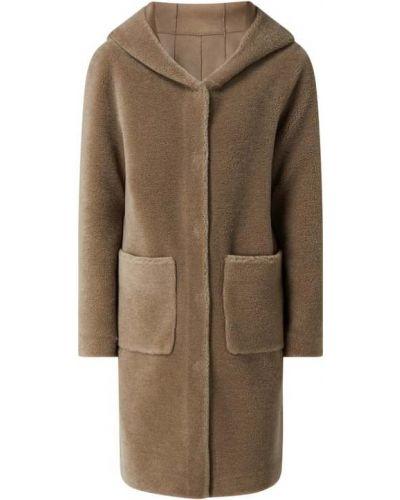 Beżowy płaszcz z kapturem Oakwood
