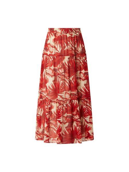 Spódnica maxi z falbanami rozkloszowana z wiskozy Lollys Laundry