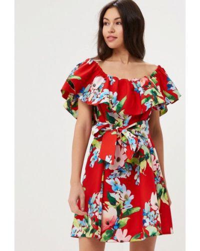 Платье весеннее красный Mirasezar