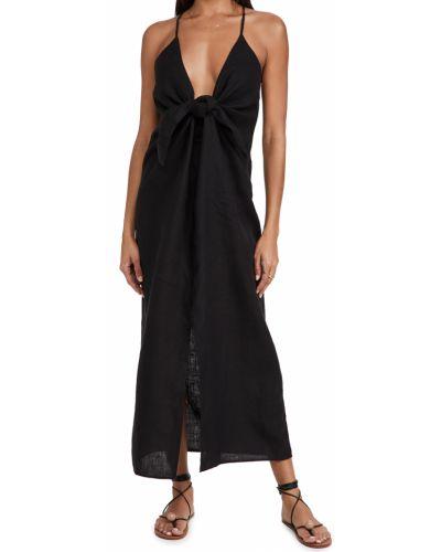 Lniana sukienka - czarna Mara Hoffman