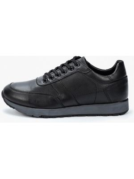 Кожаные кроссовки - черные Alessio Nesca