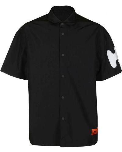 Czarna koszula oversize Heron Preston