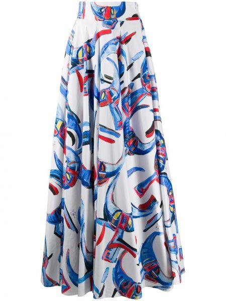 Белая пышная с завышенной талией юбка макси с поясом Stella Jean